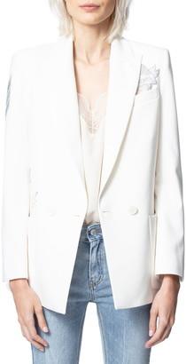 Zadig & Voltaire Visko Crystal Embellished Blazer