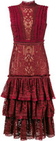Jonathan Simkhai ruffled tiered lace dress