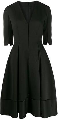 Talbot Runhof Torin waffle pique dress