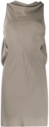Rick Owens Cowl Neck Short Dress