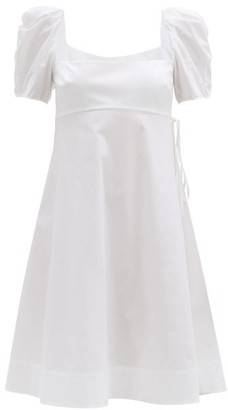 Brock Collection Puffed-sleeve Cotton-blend Poplin Dress - White