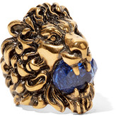 Gucci Gold-tone Swarovski Crystal Ring - 10