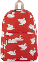 Stella McCartney Bang swan print canvas backpack