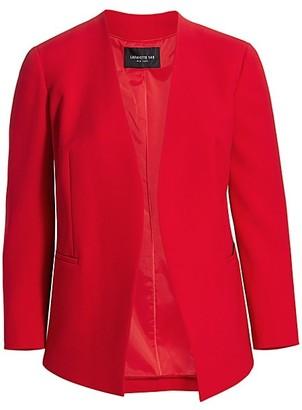 Lafayette 148 New York, Plus Size Miranda Finesse Crepe Open-Front Jacket