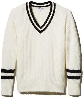 Vox Footwear LUX Striped V-Neck Cricket Sweater