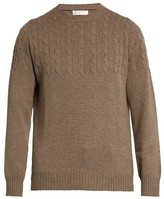 Brunello Cucinelli Half-cable Knit Wool And Cashmere-blend Sweater