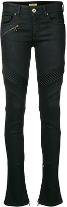 Versace skinny biker jeans