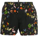 DSQUARED2 summer camp swim shorts