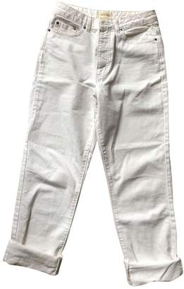 American Vintage \N White Cotton Jeans for Women