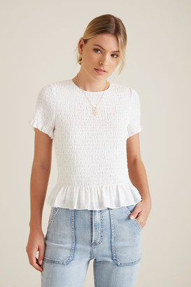 Seed Heritage Shirred Frill Top