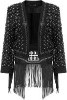 Sally LaPointe Leather Studded Blazer