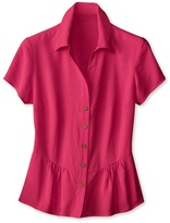 Coldwater Creek Crinkled peplum shirt