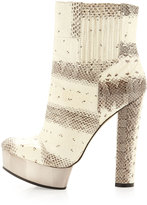 Rachel Zoe London Snakeskin Platform Ankle Boot