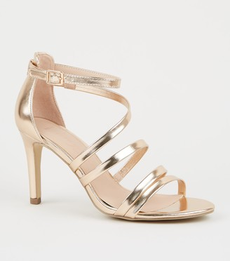 New Look Wide Fit Strappy Stiletto Sandals