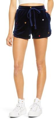 Rowa Star Velvet Embroidered Shorts