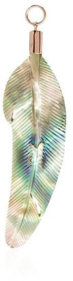 Jacquie Aiche 14kt Rose Gold Abalone Shell Feather Charm