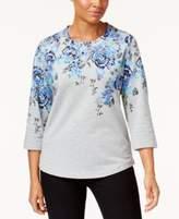 Karen Scott Printed 3/4-Sleeve Top, Only at Macy's