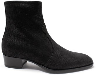 Saint Laurent Wyatt Zipped Boots