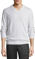 Vince Cashmere V-Neck Sweater, Heather White