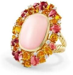 David Yurman Mustique Statement Ring With Pink Opal, Citrine, Pink