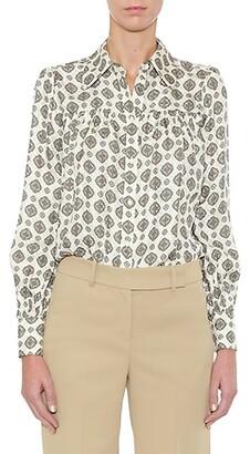 MICHAEL Michael Kors Lux Medallion Button-Up Shirt