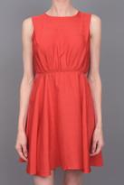 & Maclain Moon Dress Red Chevron