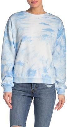 MelloDay Tie-Dye Dolman Sleeve Pullover Sweatshirt
