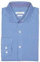 Perry Ellis Blue Cross Check Dress Shirt