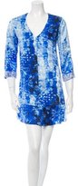 Rory Beca Printed Silk Mini Dress w/ Tags