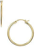 Nadri Knife Edge Hoop Earrings