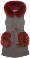 Pologeorgis The Anastasia Tweed Vest