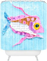 DENY Designs 71 by 94-Inch Elizabeth St. Hilaire Nelson Trigger Fish On Shower Curtain, Extra Long