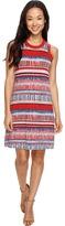 Karen Kane Painted Stripe Halter Dress Women's Dress
