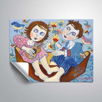 ArtWall Music and Meditatio on The Mediterraneam, Removable Wall Art Mural by Holly Wojahn