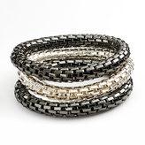 Apt. 9 Two Tone Mesh Stretch Bracelet Set