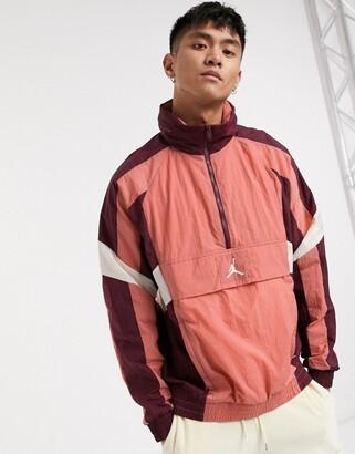 Jordan Nike Jumpman logo overhead windbreaker in pink