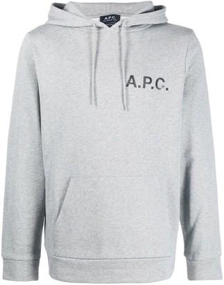 A.P.C. Logo Drawstring Hoodie