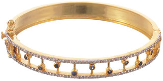 Forever Creations Usa Inc. Forever Creations Gold Over Silver 1.26 Ct. Tw. Diamond & Sapphire Bangle
