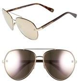 Oscar de la Renta Women's '210' 61Mm Aviator Sunglasses - Black