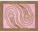 JoJo Designs Pink and Brown Paisley Accent Floor Rug by Sweet