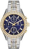 JLO by Jennifer Lopez Women's Marilyn Crystal Two Tone Stainless Steel Watch