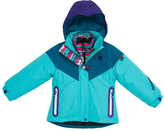 Big Chill Teal Abstract System Jacket - Girls