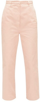 Prada High-rise Front-pleat Straight-leg Jeans - Light Pink