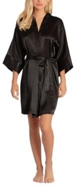 Linea Donatella Women's Short Satin Wrap Robe
