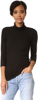Monrow Stretch Rib Turtleneck Top