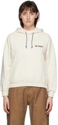 Sunnei Off-White Mini Logo Hoodie