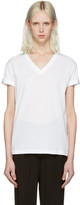 Alexander Wang White V-Neck T-Shirt