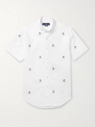 Polo Ralph Lauren Slim-Fit Button-Down Collar Embroidered Cotton Shirt