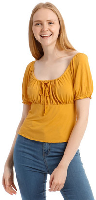 Miss Shop Gather Bust Detail Top