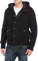 american stitch Hooded Zip Front Knit Cardigan